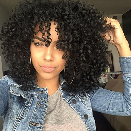 Clip In Hair Extensions Human Hair 7Pcs/120g 12' Thick Full Head Kinky Curly Double Weft Remy Clip on Human Hair Extensions for Africa America Black Women